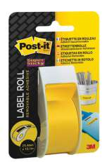 Tarrarulla Post-It 2650-Y kelt 25,4mmx10,1m Super Sticky