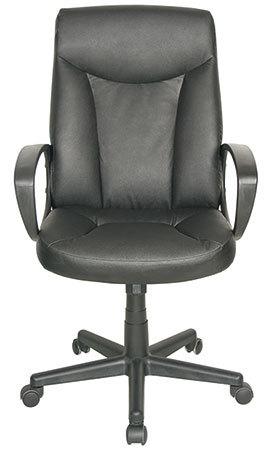 Fredericia PATO Executive-tuoli, pyörivä jalka, nahkaverhoilu