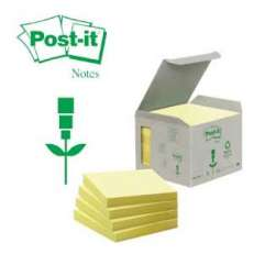Viestilappu Post-it Eko 654 keltainen 76x76mm|6/pak